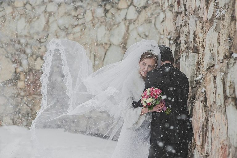 Winter wedding Chicago